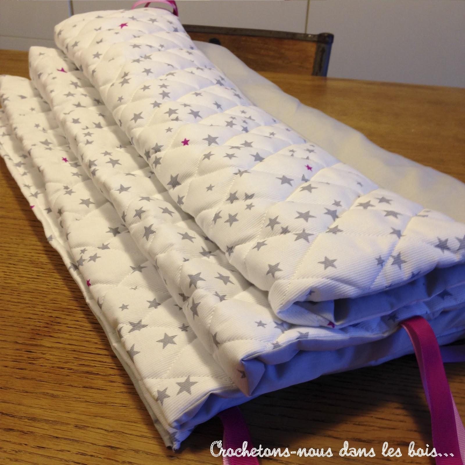 Et un tour de lit pour Charlie jolie! ~ Crochetons nous dans les bois  # Tour De Lit En Bois