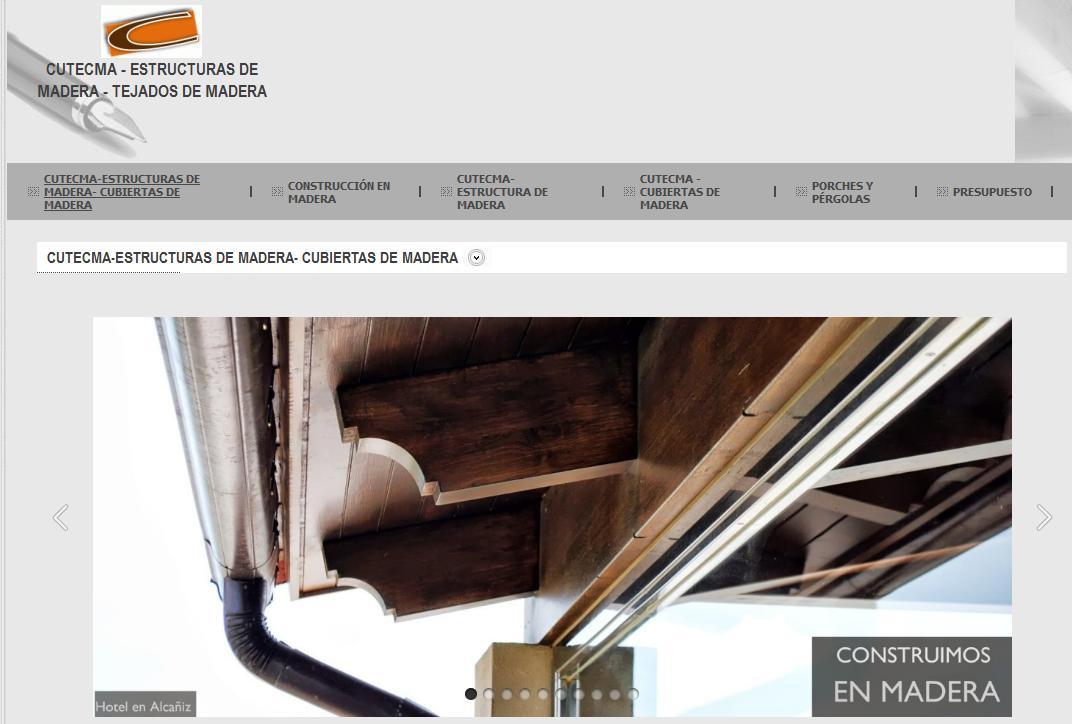 Estructuras de madera cutecma tejados de madera nueva web for Tejados de madera vista