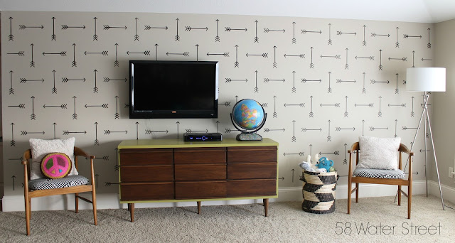 stencil designs, home decor, stencil patterns, diy, design ideas, midcentury, playroom
