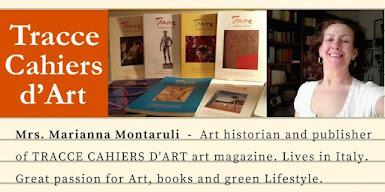 Nelle due foto: Marianna Montaruli e Beniamino Vizzini<br>Curatori di TRACCE CAHIERS D&#39;ART