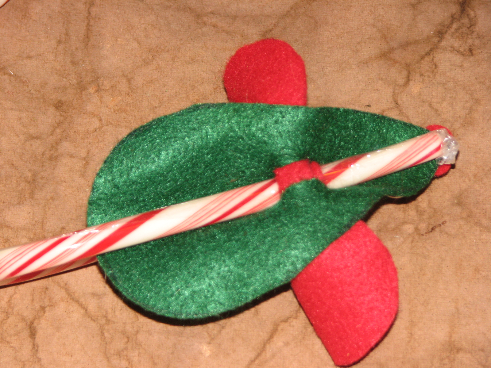 stocking use a candy cane http www thriftyfun com tf96730122 tip html