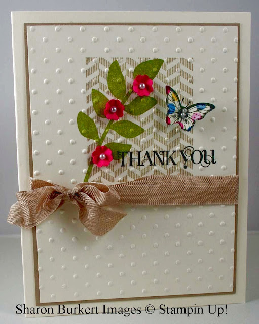 Tarjeta Bitty butterfly thank you
