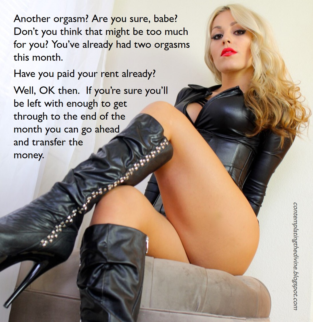 Smoking blonde financial domination 10