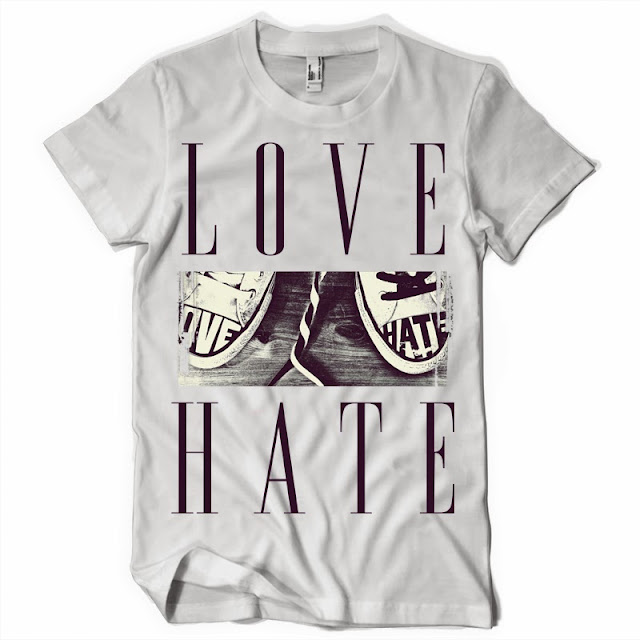Love and Hate T shirt design