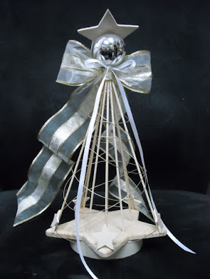 Wire star angel ornaments 1