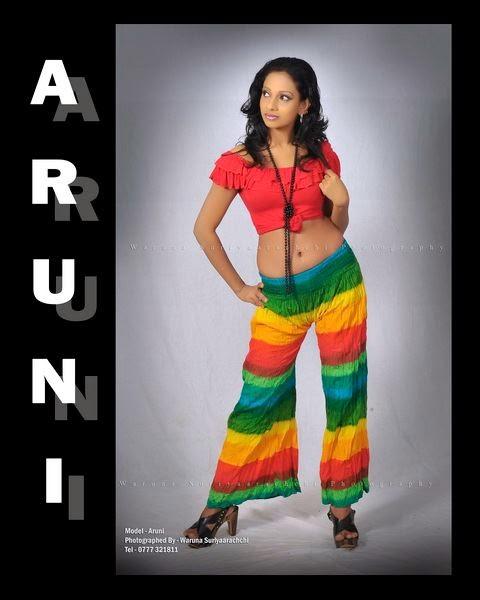 Sri Lankan model Aruni