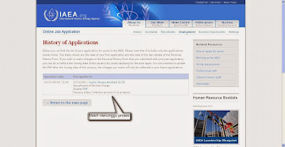 melamar sebagai pustakawan di IAEA (International Atomic Energy Agency)
