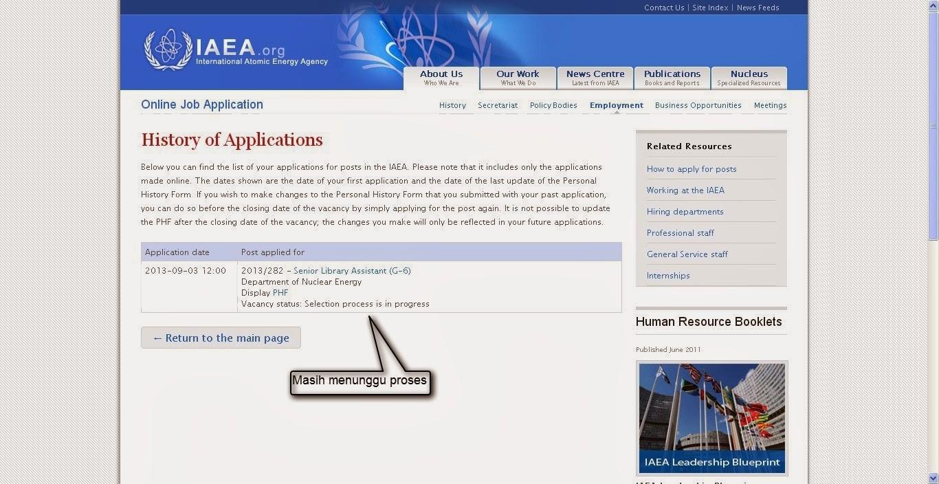 Belum Keterima Jadi Senior Library Assistant di IAEA Vienna, Austria