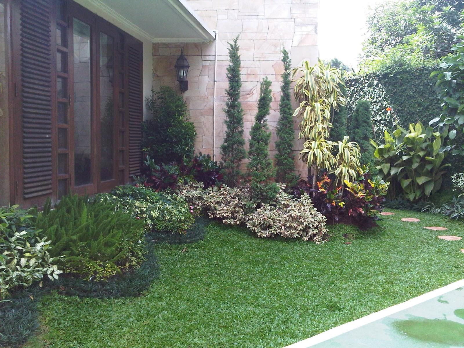 contoh gambar desain taman minimalis lahan sempit