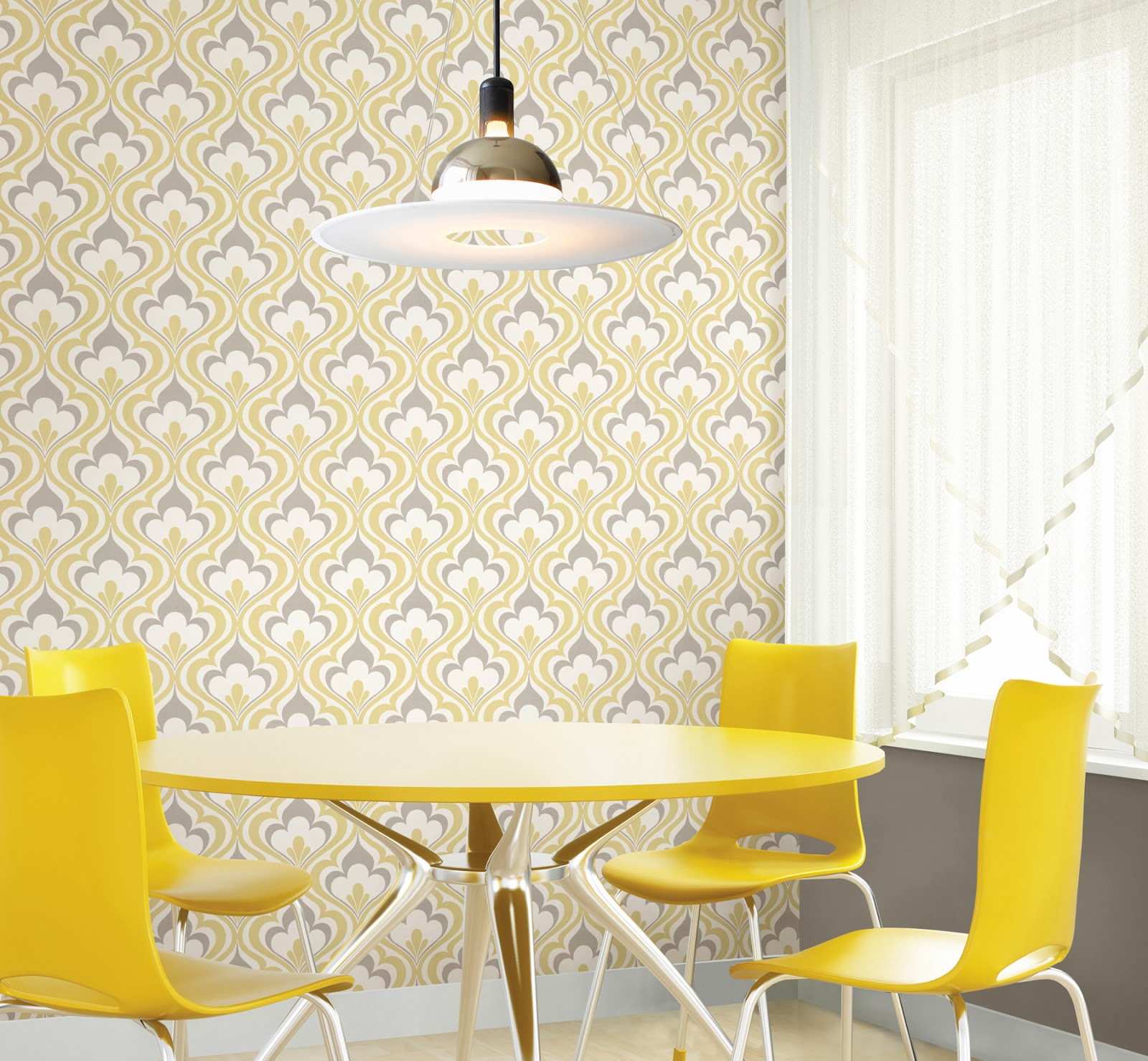Wallcoverings for less modern wallpaper with a retro twist for Wallpaper for less