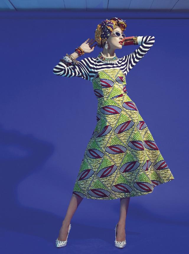 African print and stripes, kitenge and khanga fashion on ciaafrique
