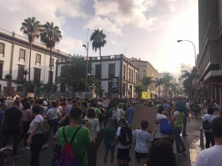 Manifestación contra El cambio climatico