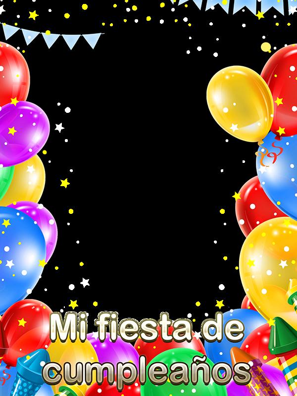 Foto invitación para cumpleaños - Marcos en psd y png para ...