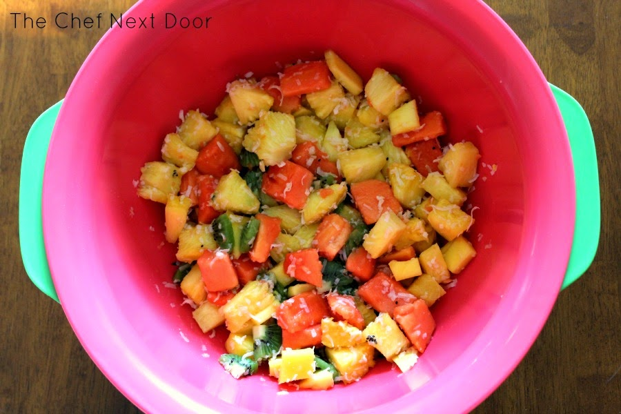 tropical fruit salad + good cook pro-freshionals cut fruit bowl giveaway!
