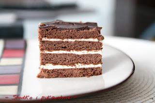 Ciasto miodowo-czekoladowe z masą budyniową czyli PYCHA
