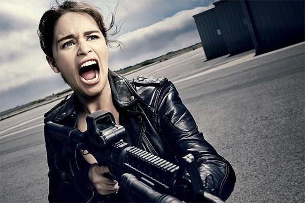 Emilia Clarke como Sarah Connor em 'O Exterminador do Futuro: Gênesis' (Foto: Divulgação)