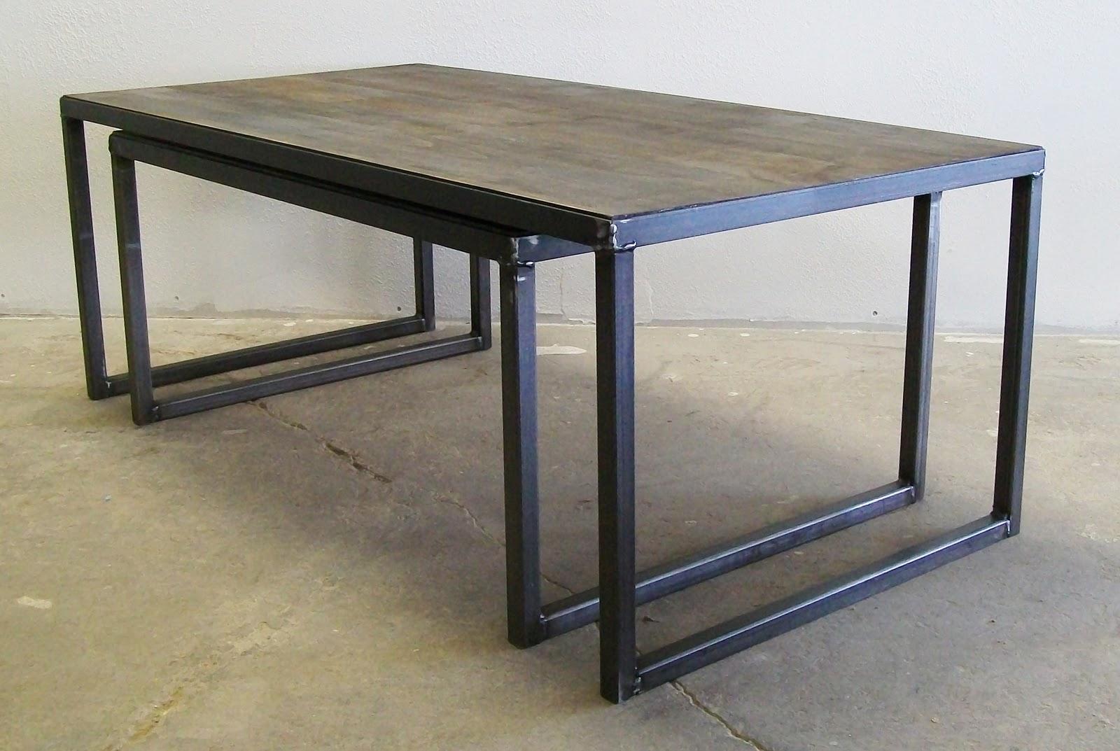 Amalgam Steel Coffee Table Nesting Lucah Designs