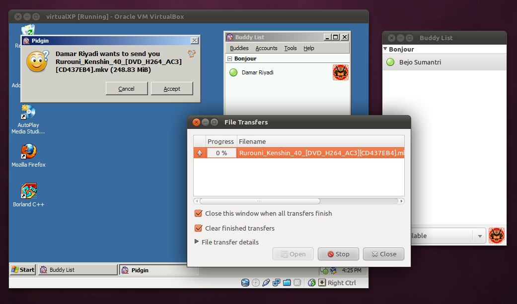 Transfer file antara Ubuntu dan Windows