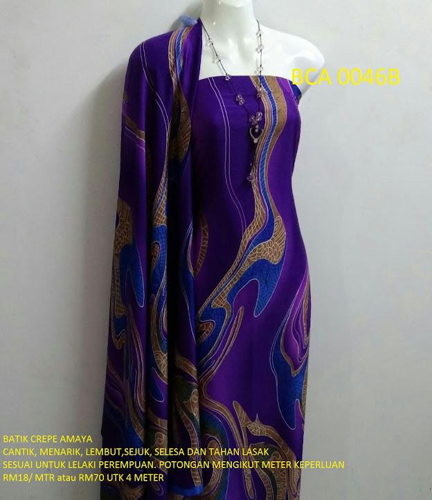 BCA 0046B: BATIK CREPE AMAYA, OPEN METER, RM18/MTR