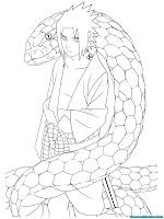 Halaman Mewarnai Gambar Jurus Ular Sasuke