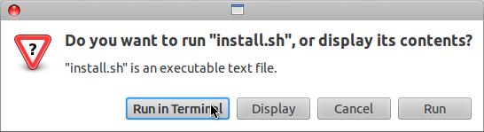 Install MacBuntu di Ubuntu 12.04 LTS - Pilih Run in terminal
