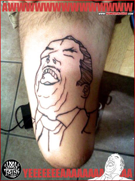 Tatuagens de Memes - Awwe yeah - Perna