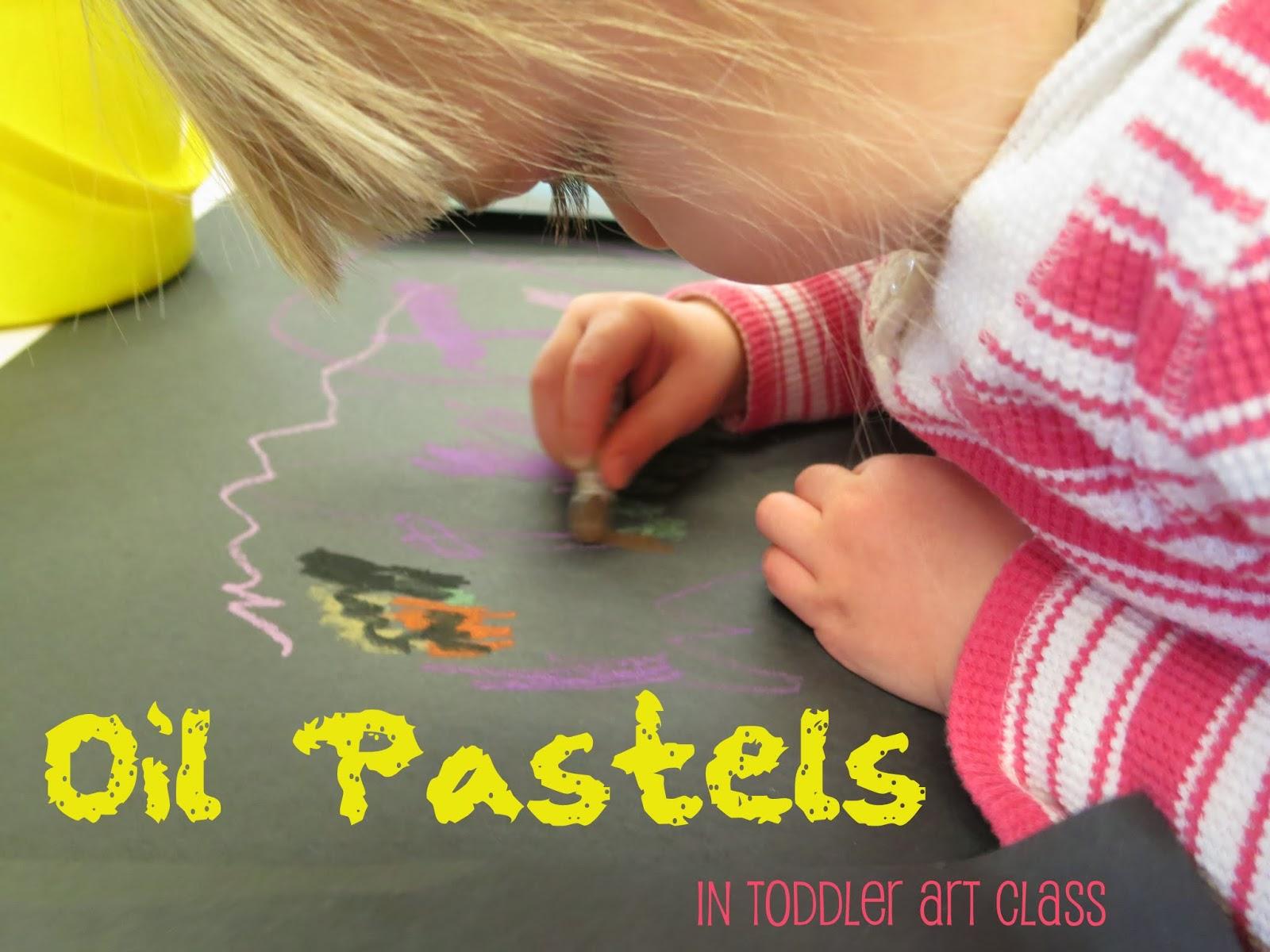 http://librarymakers.blogspot.com/2014/02/toddler-art-class-oil-pastels.html