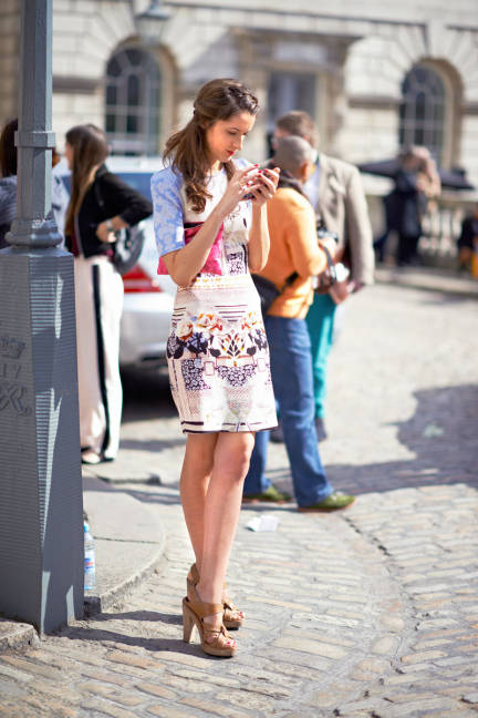 Un Caf Avec Vogue London Street Style