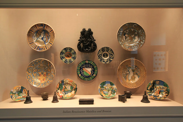 Italian Renaissance Maiolica & Bronzes plates at National Gallery of Art in Washington DC, USA