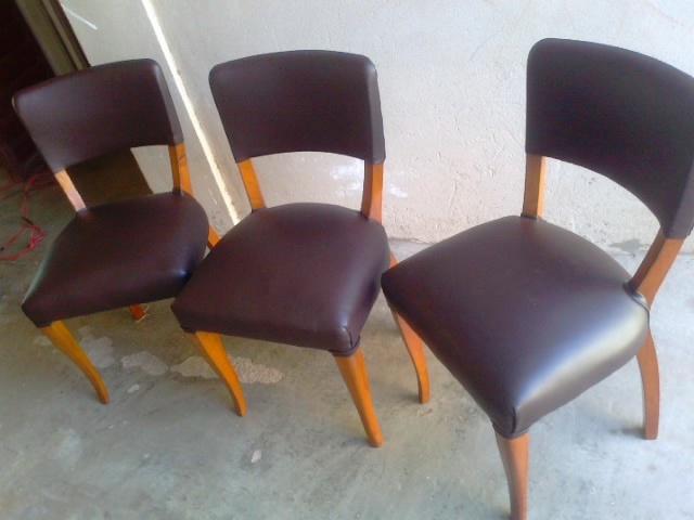 Reciclado de sillas y sillones cuatro sillas de comedor recicladas - Comedor de cuatro sillas ...