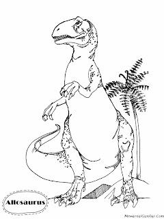 Mewarnai Gambar Allosaurus Sang Dinosaurus