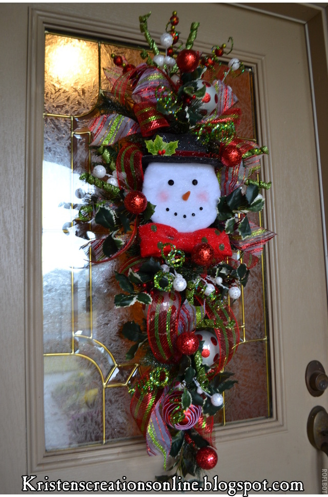 Craft ideas on pinterest glass blocks snowman christmas for 3 wreath door decoration
