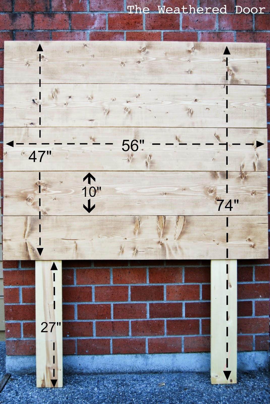Plank Headboard Wood For Sale Furniture 2 Blue Upholstered