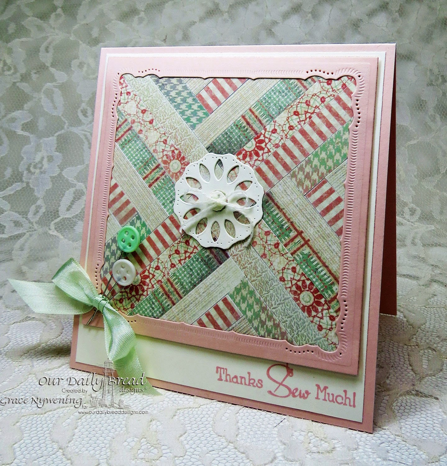 ODBD Stamps and dies: Quilts, Doily Die, designed by Grace Nywening