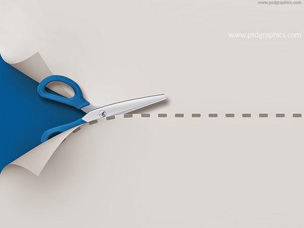 Scissors Cutting Template PSD