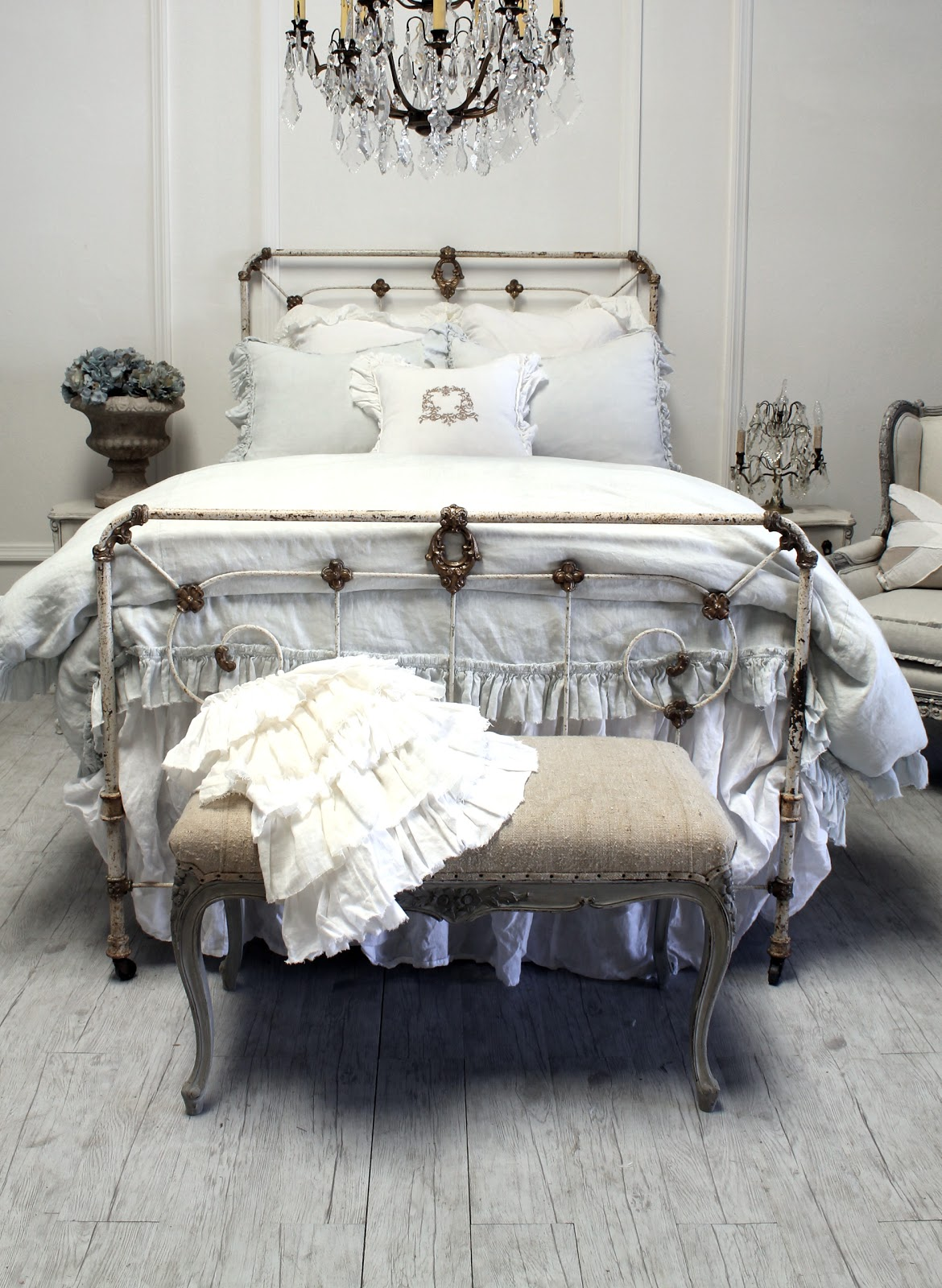 Full Bloom Cottage: Linen Ruffle Bedding Soft and Organic....