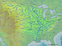 MARXIST Mississippi nand Musouri Rivers of USA