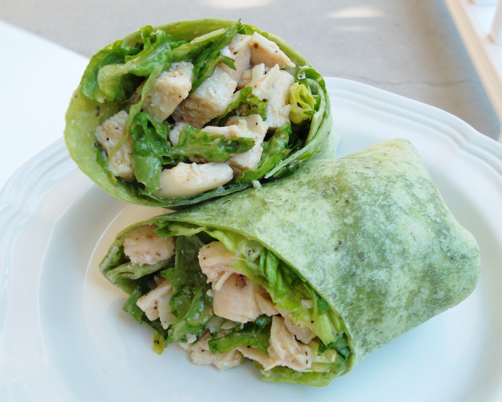 Beautiful Mess: Chicken Caesar Salad Wraps