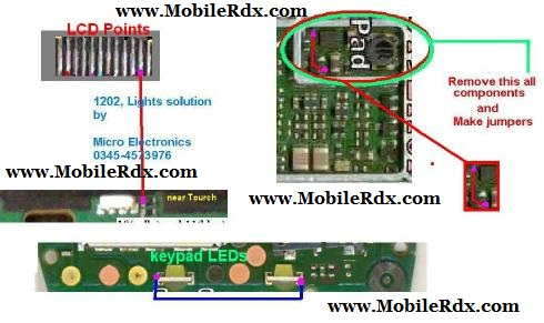 Nokia 1202 Light Problem http://www.mobilerdx.com/2012/05/nokia-1202-no-lcd-light-new-solution.html