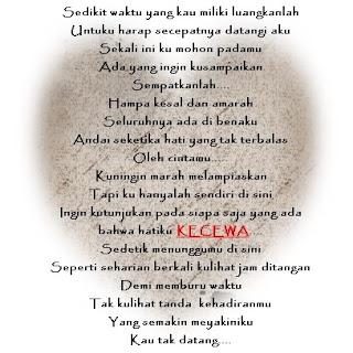 Puisi Kecewa Terhadap Sahabat 2015
