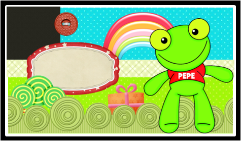 Invitations, Cards or Backgrounds of Pepe the Frog.