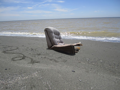 Recliner at Bombay Beach in 2010