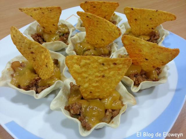 Tartaletas Tex-mex Con Obleas De Empanadilla
