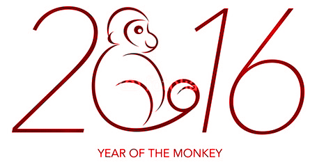 Chinese New Year Image Year of the Monkey