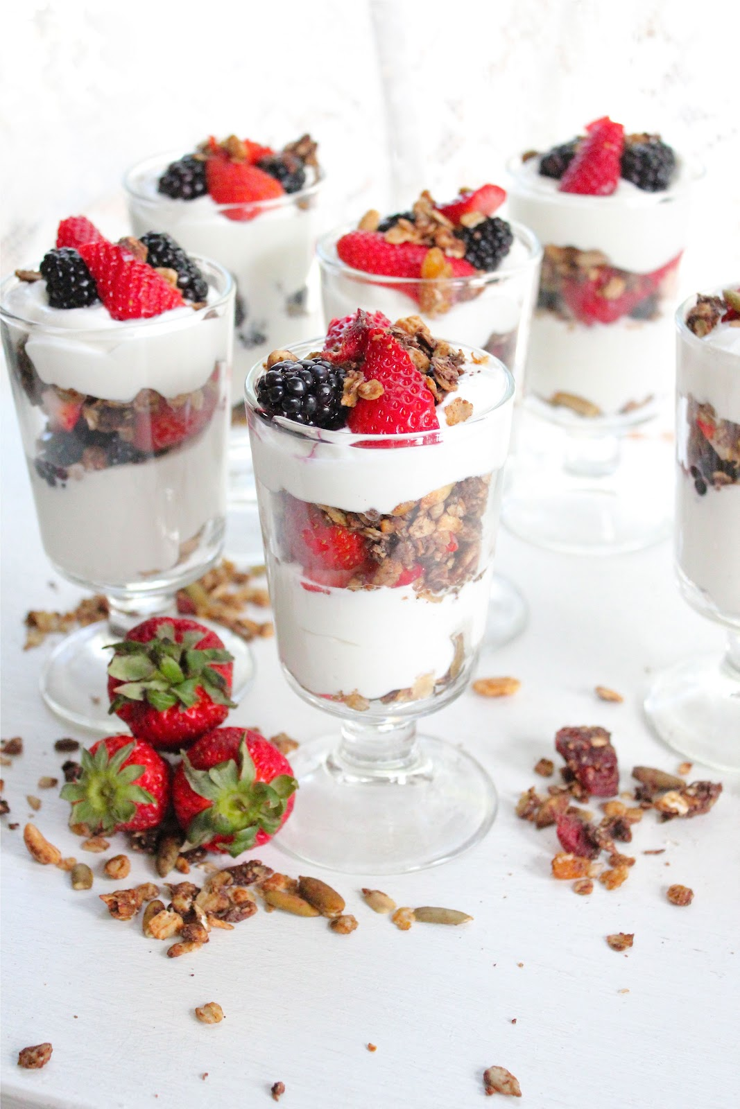 Fruity Tofu Parfait With Granola Recipe — Dishmaps