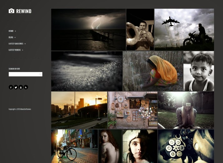 Rewind - Photography Retina WordPress Theme