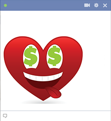 Money love icon