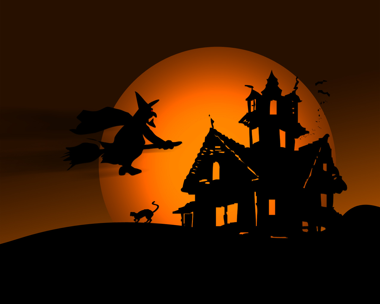 Bruja deseando feliz Halloween