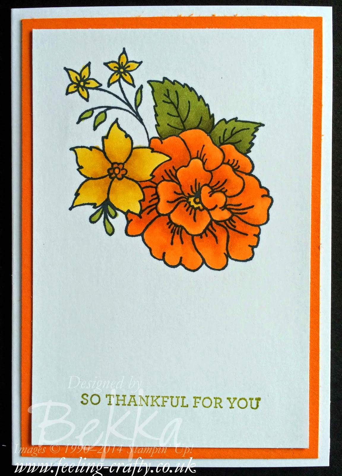 I Like You Notecard with Stampin' Up! Blendabilities - you can buy them here!