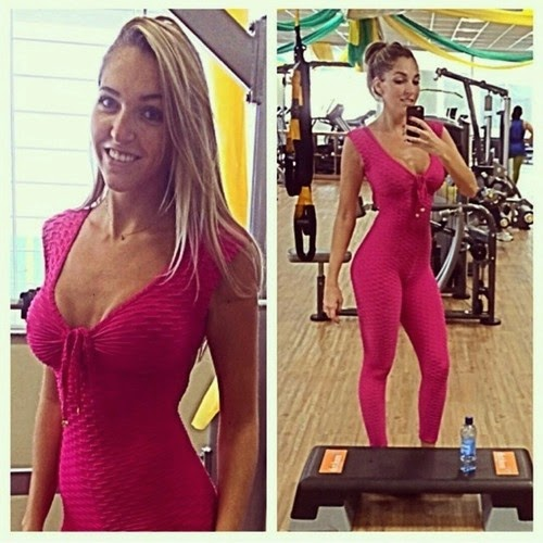 Hot Pink At Gym